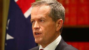 Opposition Leader: Bill Shorten.
