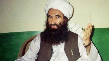 Jalaluddin Haqqani, founder of the militant group the Haqqani network, in Miram Shah, Pakistan, in 1998.