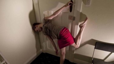 Convulsively physical … Cloe Fournier performs a solo piece.