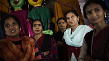 Demand for the services of Indian surrogate mothers such as Neelam Chauhan (second from right) have jumped in the past three years.