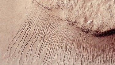 True gullies on Mars.