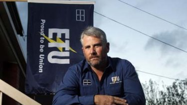 Dean Mighell, the state secretary of the Victorian Electrical Trades Union.