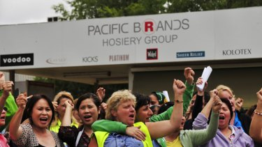 Pacific Brands clothing manufacturers have announced more than 1800 job losses across Australia.