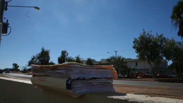 Dropped ... the medical files found by a member of the public in Mt Isa.