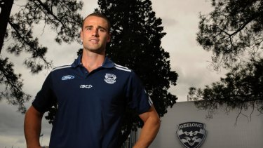 Staying put: Trent West loves Geelong and knows he always wants to stay there.