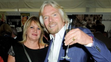 Champagne lifestyle … Richard Branson with wife Joan in 2008.