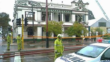 The Guildford Hotel after it was fire damaged in 2008.