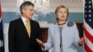 Buddies....Stephen Smith and Hillary Clinton.