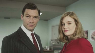 Dominic West and Romola Garai in <i>The Hour</i>.
