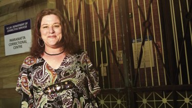 """""""Lawlessness attracts some women"""" … Tanya Levin outside Parramatta Correctional Centre, where she met her former partner an inmate."""