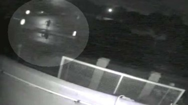 Security footage of the suspected gun man.