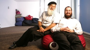 """Father and son rabbis Laibl and Menachem Wolf: """"We bring together ancient teachings and tradition with contemporary research to improve people's lives,"""" Laibl says."""