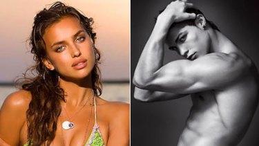 Pin-ups ... Sports Illustrated model Irina Shayk and Cristiano Ronaldo