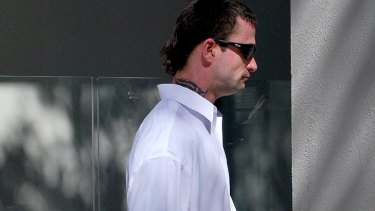 Jason Marzoli leaving court.
