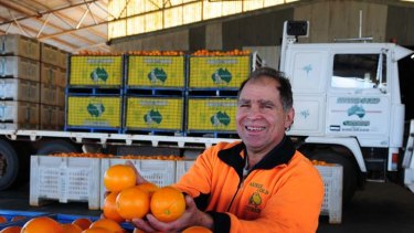 ''It just makes me feel good that I can help someone'' ... citrus grower Frank Scarfone.