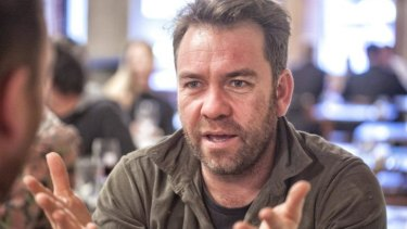 Sports fan: Brendan Cowell initially set out to dispel the myths about rugby league players.