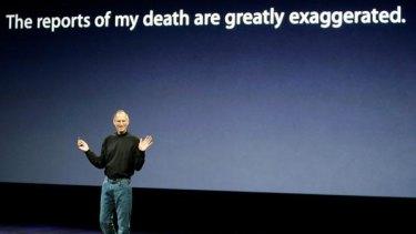 Apple CEO Steve Jobs speaks at an Apple event in September last year.