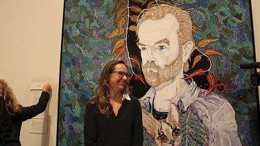 More questions than answers: Del Kathryn Barton and her winning portrait of 'Hugo' at the Art Gallery of NSW.