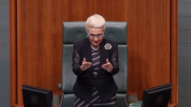 Madam Speaker Bronwyn Bishop made an end of year speech at Parliament House in Canberra on Thursday 4 December 2014.