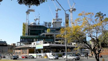 Construction at the new Queensland Children's Hospital at South Brisbane.