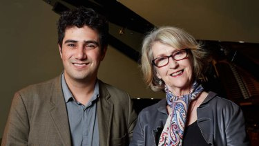 Someone to watch over me: Amir Farid with Daphne Turnbull.