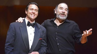 Buddies and baritones: Nathan Gunn, left, Mandy Patinkin, right.