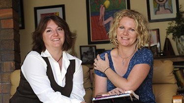 Big money...From left, Wendy and Rebecca James at Rebecca's Armidale home.