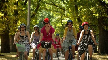 Frocks on Bikes aims to dispel the myth that women have to wear special riding gear to ride a bike.