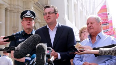 Premier Dan Andrews announced magistrates would be on call to hear bail applications out-of-hours in the wake of the CBD rampage.