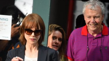 Nicole Kidman and her father Antony Kidman last month.