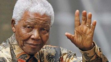 At rest: Former South African president Nelson Mandela.