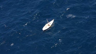 A man was rescued after being stranded at sea in his yacht.