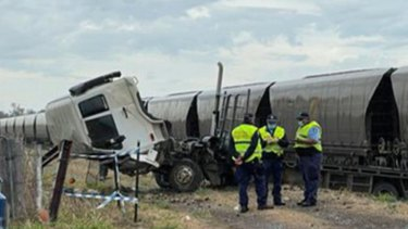 A coal train and truck have crashed in the Upper Hunter of NSW, with one injured.