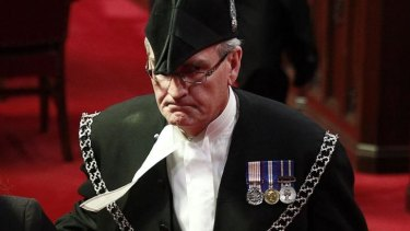Hailed as a hero: Sergeant-at-Arms Kevin Vickers.