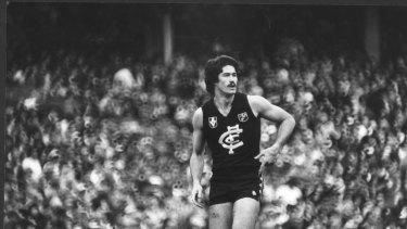 Carlton footballer Mike Fitzpatrick in 1981.