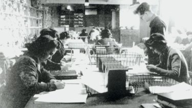 A codebreaking team at Bletchley Park in 1943.