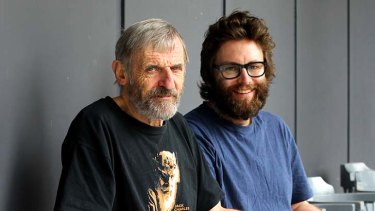 Lest we forget: John Romeril, left, and Sam Strong.