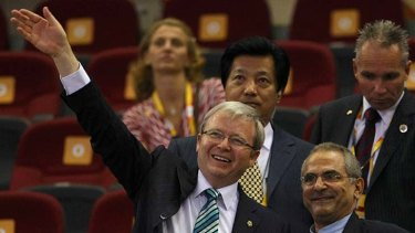 Jose Ramos-Horta, pictured with Kevin Rudd at the Beijing Olympics, has 'repeatedly and explicitly' affirmed his preference for ties with Australia, according to the leaked cables