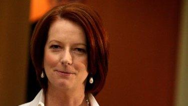 Having her say ... Julia Gillard.