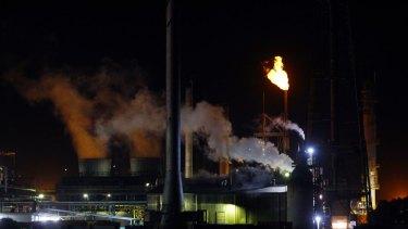 Orica's Kooragang plant near Newcastle.