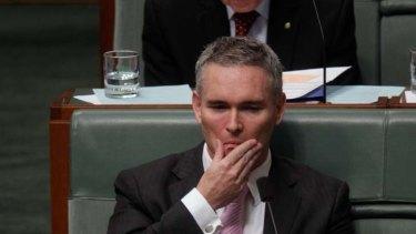 Craig Thomson in Parliament yesterday.