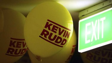 Rudd has been urged to make an exit.