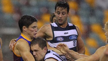 Captain courageous: Joel Selwood's fearless playing style can have its problems.