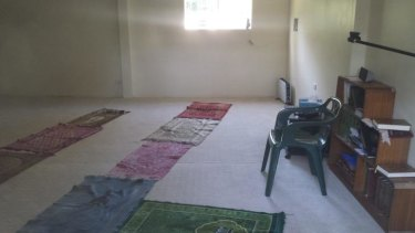 Inside the prayer centre targeted by vandals.