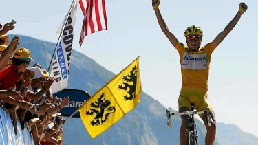 King of the Mountain ... Rasmussen has admitted he was a drug cheat for 12 years.