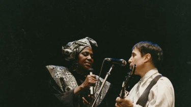 Miriam Makeba and Paul Simon.