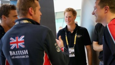 Prince Harry with the British swimming team at the Invictus Games. The prince said he hope the games would continue to be held in the United Kingdom, hopefully next in Glasgow.