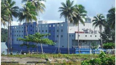 The floating hotel off Manus Island.
