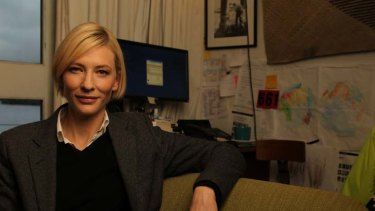 Standing up for her beliefs ... Cate Blanchett has been praised and mocked for supporting a carbon tax.