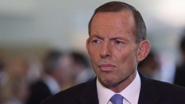 Prime Minister Tony Abbott: said that the ABC  ''instinctively takes everyone's side but Australia's''.